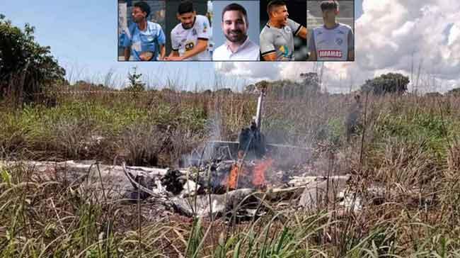 Mueren Futbolistas brasileros en accidente aéreo